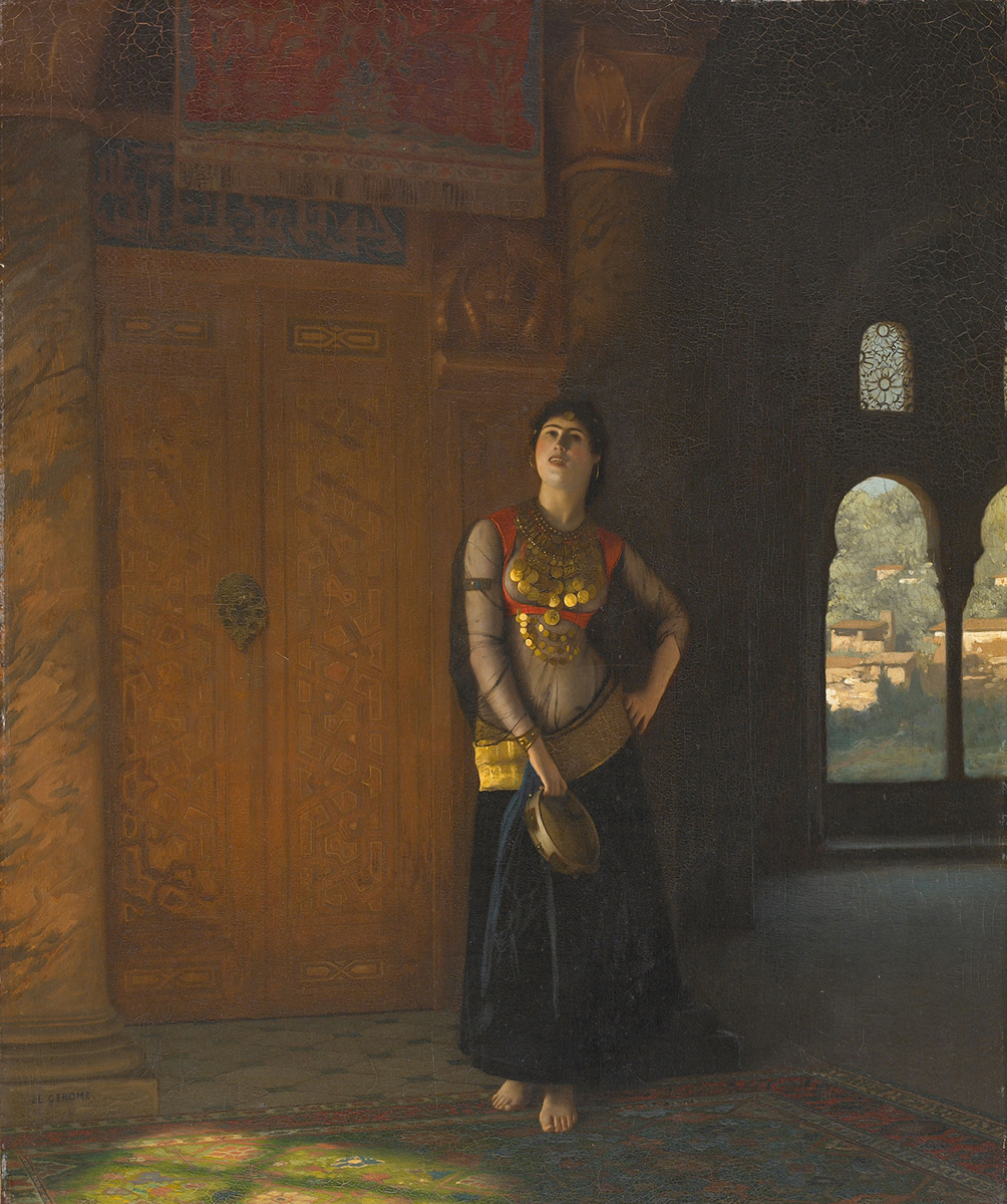 Across Time & Place Jean Leon Gerome La Chanteuse . c. 1880.