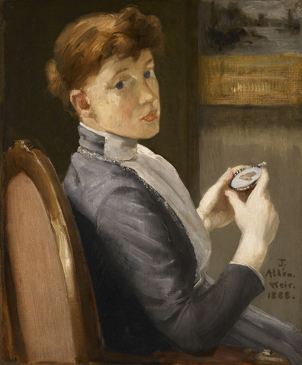 Before Selfies: Portraiture through the Ages Julian Alden Weir The Miniature . 1888