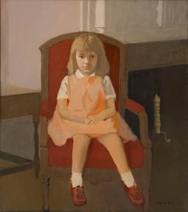 Mirrored Images Fairfield Porter Elizabeth in a Red Chair . 1961
