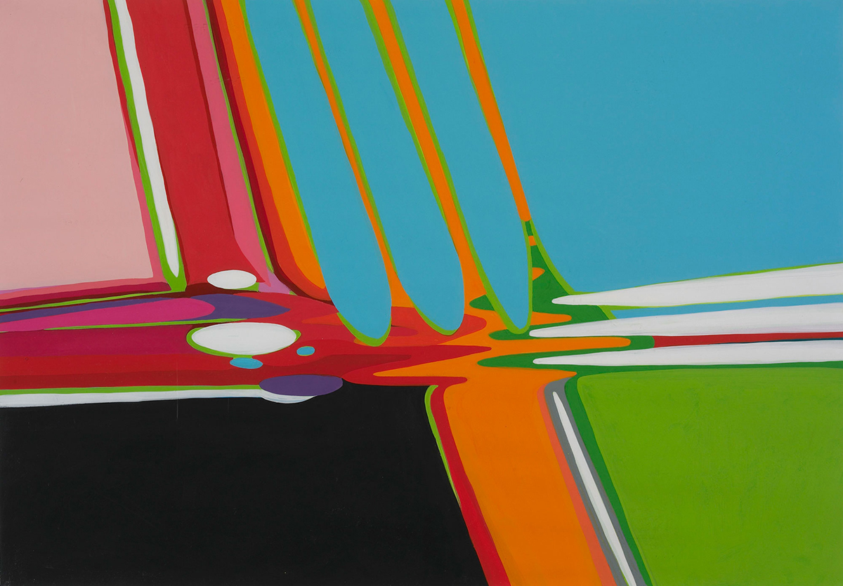 Picture Perfect: Selections from the Permanent Collection Wayne Gonzales Untitled (Pool Table Abstraction) . 1998
