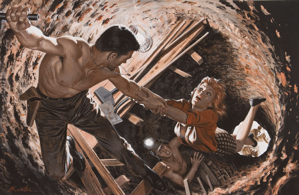 Mort Kunstler Pulp Fiction - Buried-Alive