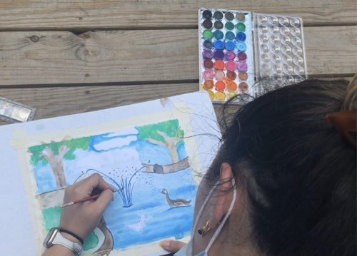 Heckscher at Home Kids Summer Watercolor Painting